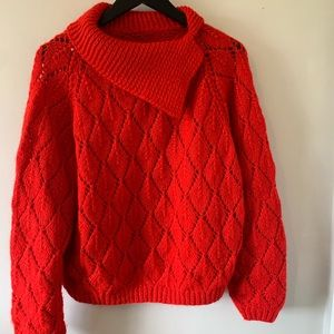 VINTAGE / Handmade / Red / Knit / Sweater